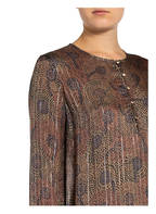 MOS MOSH Kleid BRISA PEACOCK, Farbe: CAMEL/ PETROL/ SILBER (Bild 1)