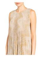 M MISSONI Plisseekleid mit Glitzergarn, Farbe: BEIGE/ GOLD (Bild 1)