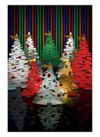 ALESSI Magnetischer Deko-Weihnachtsbaum BARK , Farbe: SILBER/ GOLD/ ROT (Bild 1)