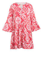 Mrs & HUGS Kleid mit 3/4-Arm, Farbe ROT/ WEISS (Bild 1)