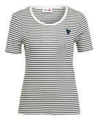 MOS MOSH T-Shirt KENIA mit Glitzergarn, Farbe SCHWARZ/ ECRU (Bild 1)