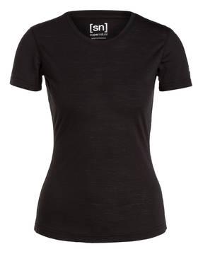 super.natural Funktionswäsche-Shirt BASE 140 mit Merinowolle-Anteil