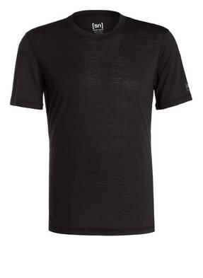 super.natural Funktionswäsche-Shirt BASE TEE 140 mit Merinowolle-Anteil