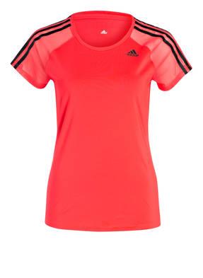 adidas T-Shirt ATHLETIC mit Mesh-Einsätzen