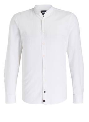 strellson Hemd RAUL-W Modern-Fit mit Stehkragen und Leinenanteil