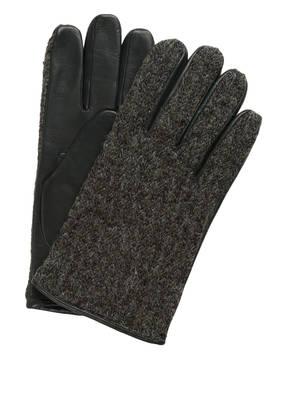 ORCIANI Lederhandschuhe im Materialmix