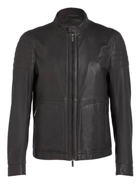 belstaff lederjacke mit fell apollo. Black Bedroom Furniture Sets. Home Design Ideas
