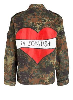SONIUSH Oversized-Jacke mit Rückenmotiv BYHEART