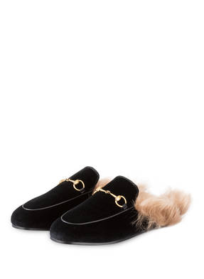 GUCCI Samt-Mules PRINCETOWN