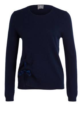 FTC CASHMERE Cashmere-Pullover mit Samtschleife