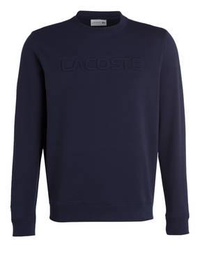 LACOSTE Sweatshirt mit monochromer Label-Prägung