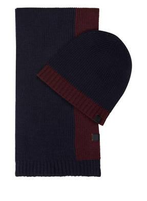 BOSS Set: Schal und Mütze N-SET