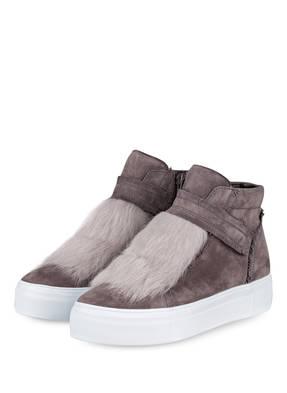 KENNEL & SCHMENGER Hightop-Sneaker BIG mit Fellbesatz