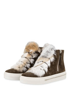 Alpe Hightop-Sneaker mit Fellbesatz