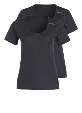 odlo 2er-Pack Funktionswäsche-Shirts CUBIC