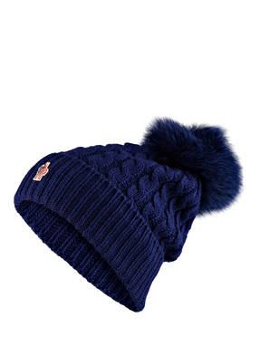 MONCLER GRENOBLE Mütze BERRETTO mit Pelzbommel