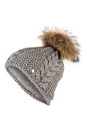 Eisbär Mütze RAFAELA mit Pelzbommel