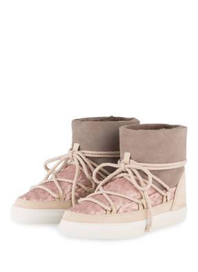 INUIKII Fell-Boots mit Paillettenbesatz