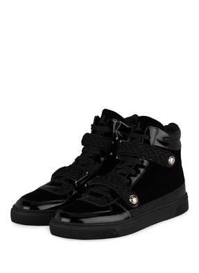 LOUIS LEEMAN Hightop-Sneaker aus Samt