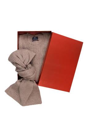 STROKESMAN'S Set: Pullover und Schal aus Cashmere