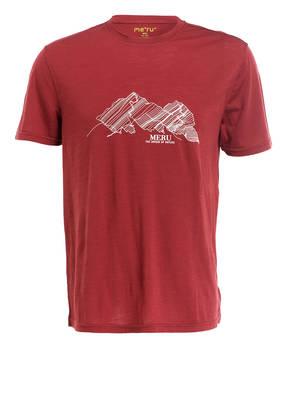 me°ru' T-Shirt TUMBA mit Merinowolle-Anteil
