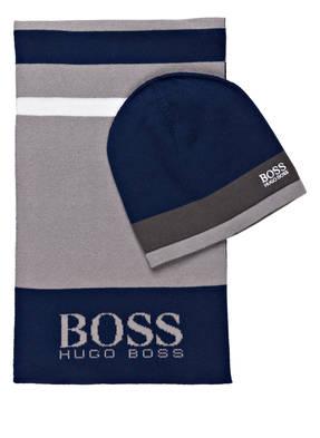 BOSS Set: Schal und Mütze