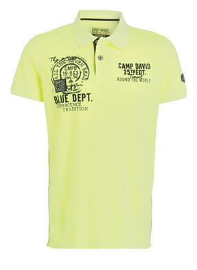 CAMP DAVID Piqué-Poloshirt