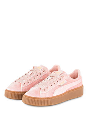 PUMA Samt-Sneaker BASKET PLATFORM