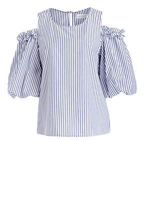 velvet Off-Shoulder-Bluse