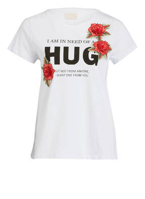 Mrs & HUGS T-Shirt mit Patches