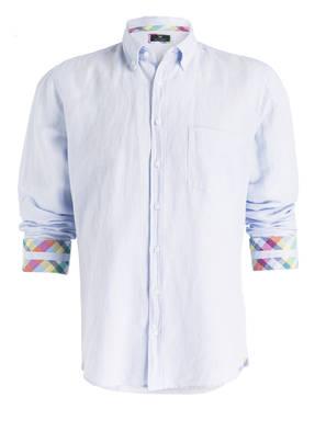 STROKESMAN'S Hemd Modern Fit mit Leinenanteil