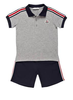 MONCLER Set: Poloshirt und Shorts