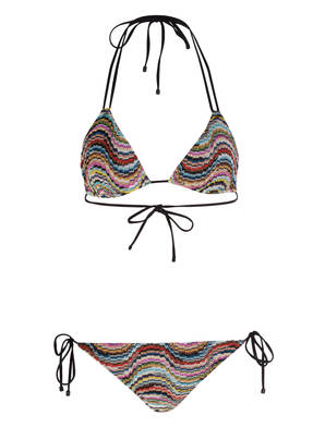 MISSONI Triangel-Bikini in Brokatoptik