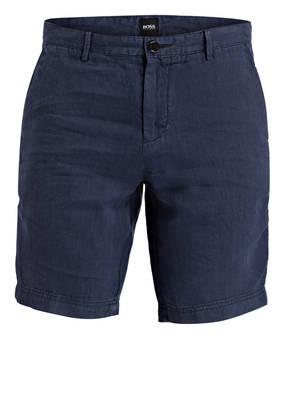 BOSS Leinen-Shorts CRIGAN Regular-Fit