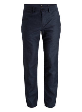 BOSS Chino STAPERED1-W Tapered-Fit mit Leinenanteil