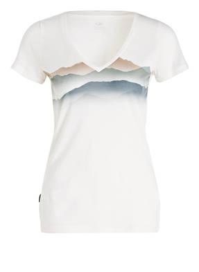 icebreaker T-Shirt TECH LITE MISTY HORIZON mit Merinowolle-Anteil
