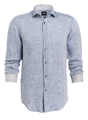 BOSS Leinenhemd RIDLEY_53 Slim-Fit