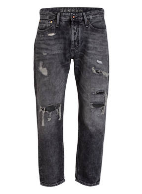 DENHAM Destroyed-Jeans CROP Loose Carrot-Fit