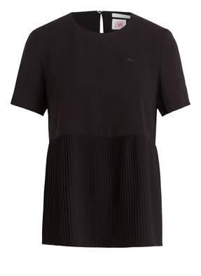 LACOSTE L!VE Bluse mit Plissee-Einsatz