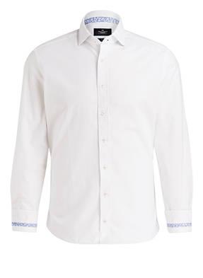 HACKETT LONDON Hemd Slim-Fit mit Ellbogen-Patches