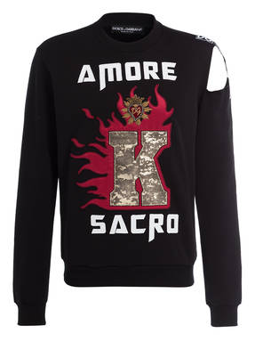 DOLCE&GABBANA Sweatshirt mit Cut-out Detail