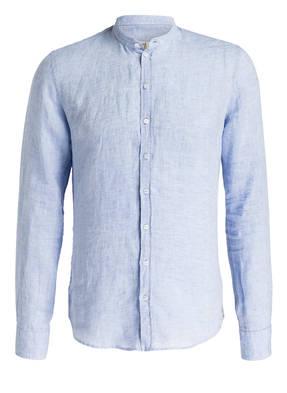 Q1 Manufaktur Leinenhemd RENÉ Slim Fit mit Stehkragen