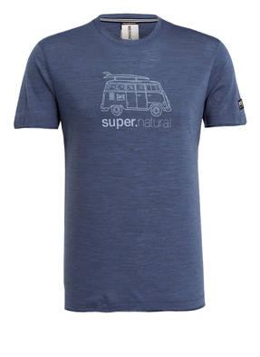 super.natural T-Shirt GRAPHIC 140 mit Merinowolle-Anteil