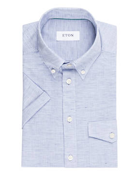ETON Halbarm-Hemd Slim-Fit mit Leinenanteil