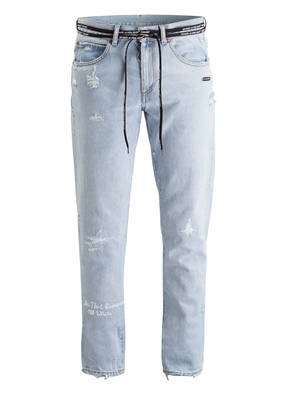 OFF-WHITE Destroyed-Jeans Slim-Fit