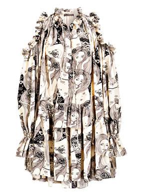 ALEXANDER McQUEEN Cold-Shoulder-Kleid aus Seide
