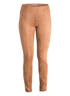 RAFFAELLO ROSSI Leggings in Veloursleder-Optik