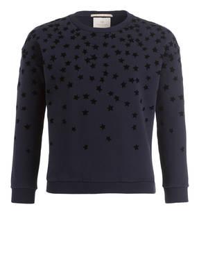 SCOTCH R'BELLE Sweatshirt mit Samtbesatz