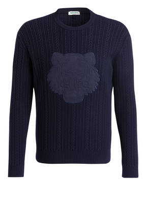 KENZO Pullover mit Zopfmuster
