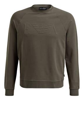 EMPORIO ARMANI Sweatshirt mit monochromer Logo-Prägung